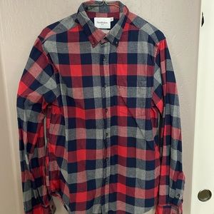 Goodfellow & Co grey/red/blue flannel